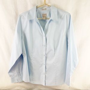 Chico's Light Blue Button Down Shirt. Like New